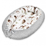 Bamboo baby nest - Fawns - silver