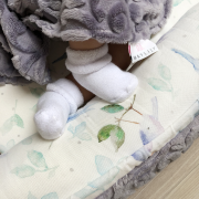 Baby nest Luxe Star wolves grey