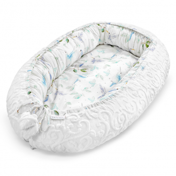 Premium Baby nest Luxe Heavenly Birds White