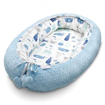 Premium Baby nest Sea Friends Light blue
