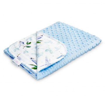 Light bamboo blanket Heavenly birds Light blue