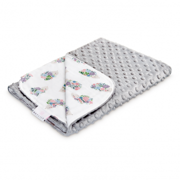 Light bamboo blanket Hedgehogs girls Silver