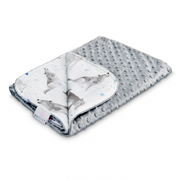 Light bamboo blanket Star wolves Silver
