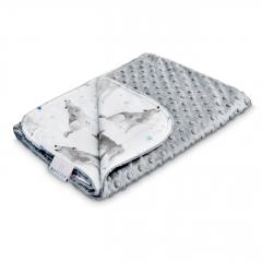 Light bamboo blanket - Star wolves - silver