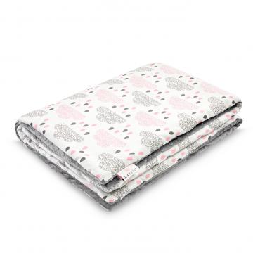 Warm bamboo blanket XL Blush rain Silver