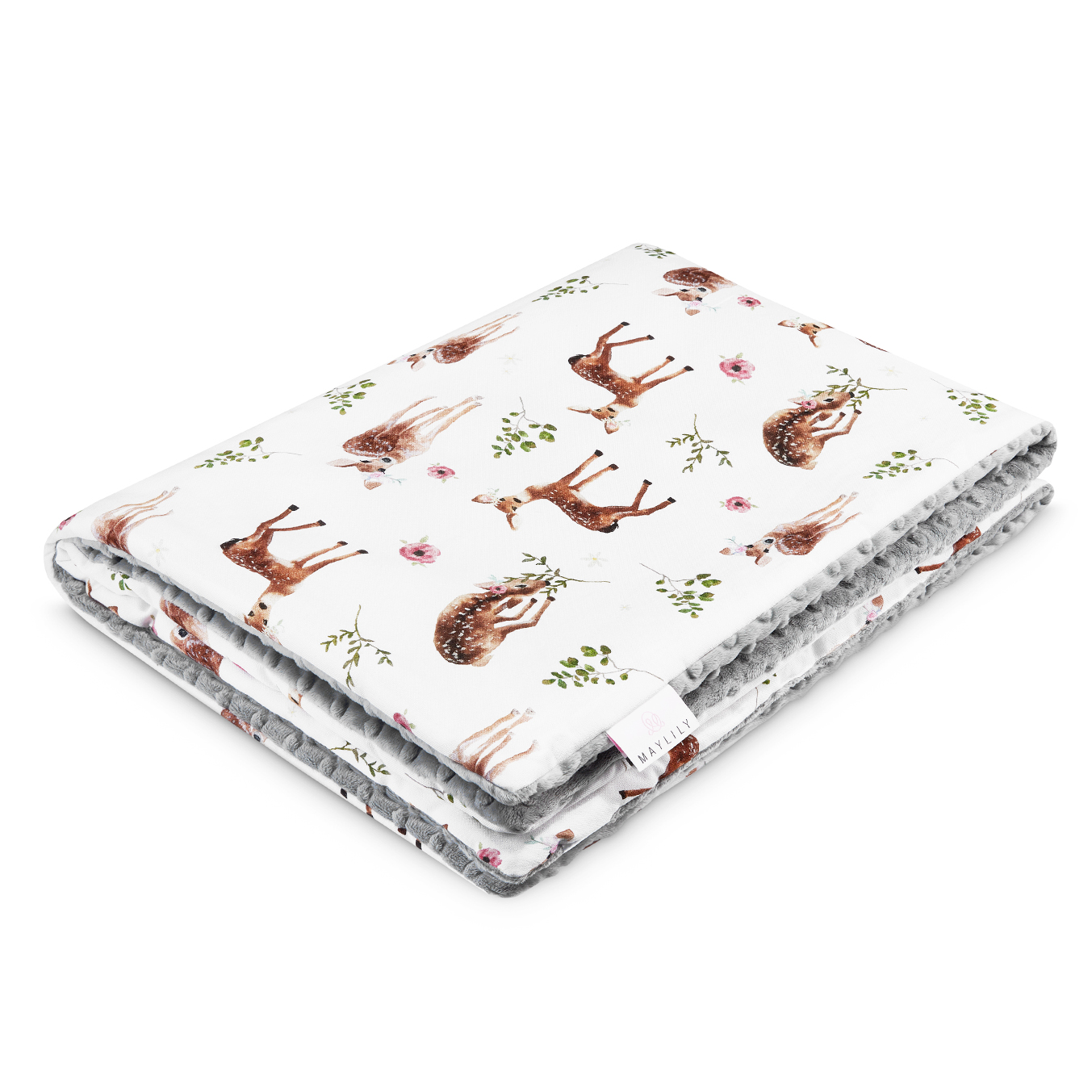 Warm bamboo blanket Fawns Silver
