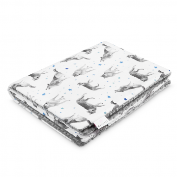 Warm bamboo blanket Star wolves Silver