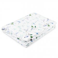 Warm bamboo blanket Luxe Heavenly birds - White