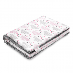 Warm bamboo blanket Luxe Blush rain - Grey