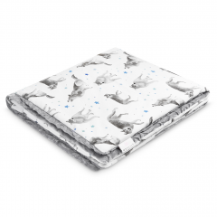Warm bamboo blanket Luxe Star wolves - Grey