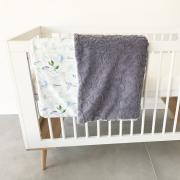 Warm bamboo blanket Luxe XL Heavenly birds Grey
