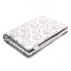 Warm bamboo blanket Luxe XL Blush rain - Grey