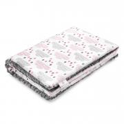 Warm bamboo blanket Luxe XL Blush rain Grey