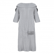 Bamboo sleeved blanket - silver