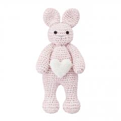 Bunny friend love - dusty pink
