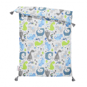 Double bamboo duvet L Dragons blue