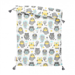 Double bamboo quilt M Grey owls