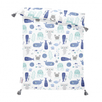 Double bamboo duvet S Sea friends