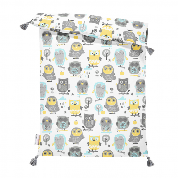 Double bamboo duvet S Grey owls
