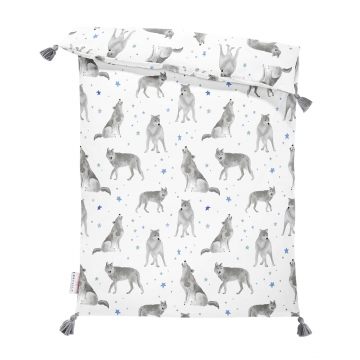 Double bamboo duvet S Star wolves