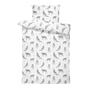 Bamboo bedding cover set M Star wolves
