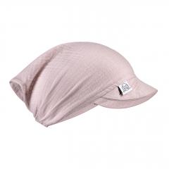 Muslin visor scarf - dusty pink