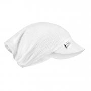 Muslin visor scarf Cream