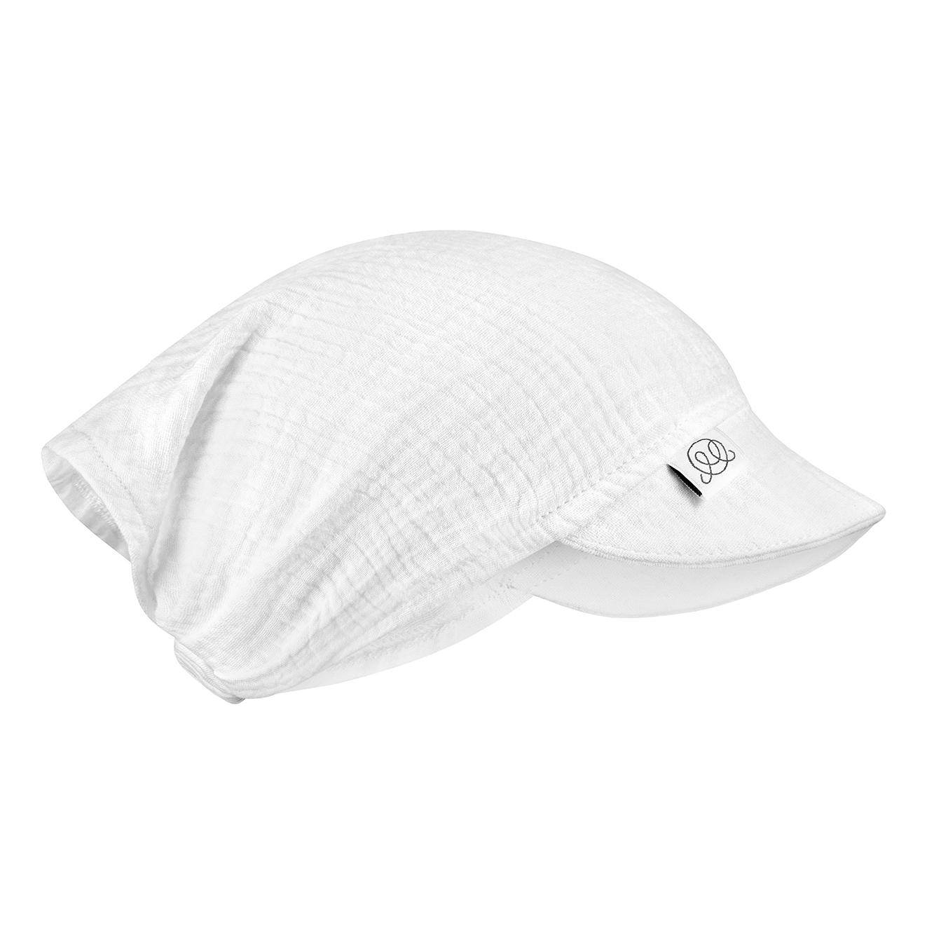 Muslin visor cap Cream