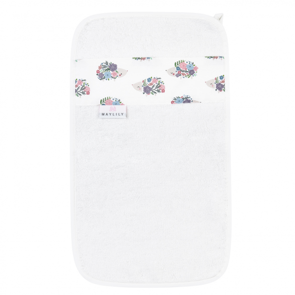 Bamboo hand towel Hedgehogs girls Cream