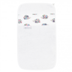 Bamboo hand towel Hedgehogs girls - Cream