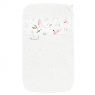Bamboo hand towel Paradise birds Cream