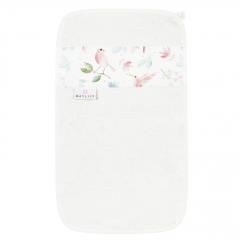Bamboo hand towel - Paradise birds - cream
