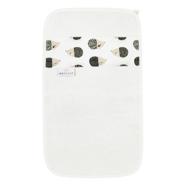 Bamboo hand towel Hedgehogs boys Cream
