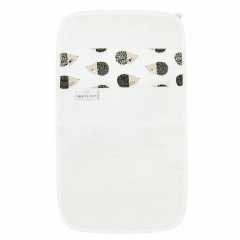 Bamboo hand towel - Hedgehogs boys- cream