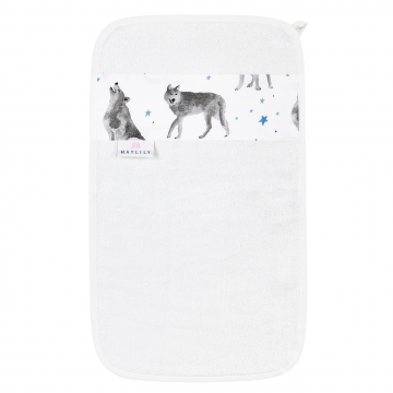 Bamboo hand towel Star wolves Cream