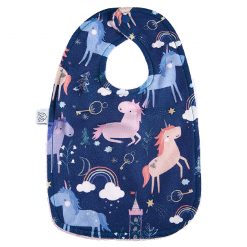 Bamboo bib Unicorns