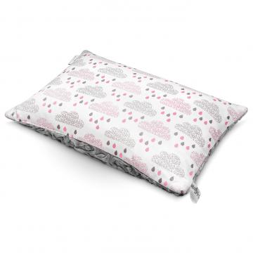 Luxe fluffy pillow Blush rain Grey