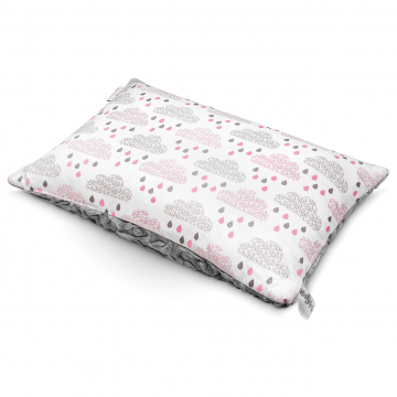 Luxe fluffy pillow Blush rain Grey
