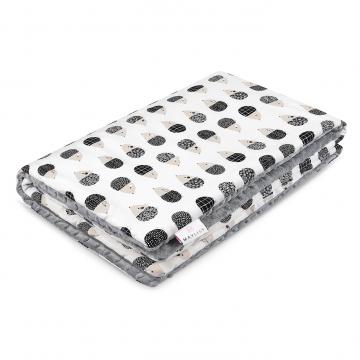 Warm bamboo blanket XL Hedgehogs boys Silver