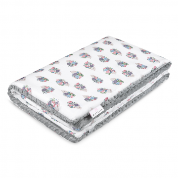 Warm bamboo blanket XL Hedgehogs girls Silver