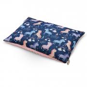 Fluffy bamboo pillow - Unicorns - dusty pink
