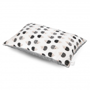 Puszysta poduszka bambusowa - Jeżki - srebrny