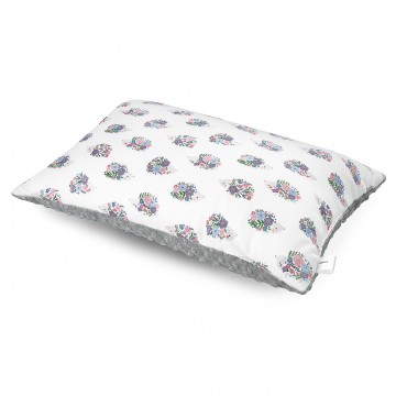 Bamboo fluffy pillow Hedgehogs girls Silver