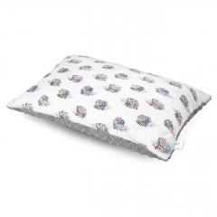 Fluffy bamboo pillow - Hedgehogs girls - silver