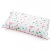Puszysta poduszka bambusowa - Rajskie ptaszki - pudrowy róż