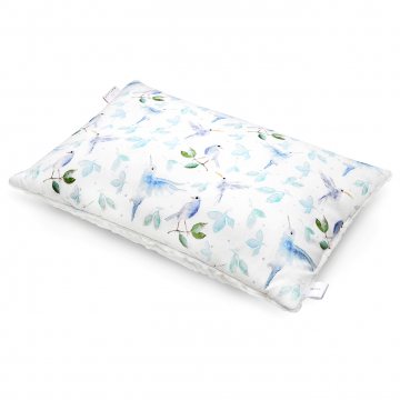 Luxe fluffy pillow Heavenly birds White