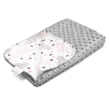Light bamboo blanket Blush rain Silver