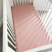 Cotton jersey bed sheet 140x200 Blush pink