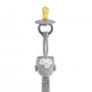 Pacifier clip Mam Owl grey - mint