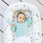 Baby nest Luxe Heavenly feathers Grey